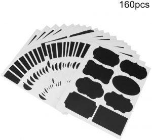 160 labels krijtbord