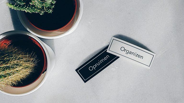 Wat is het verschil tussen opruimen en organizen?